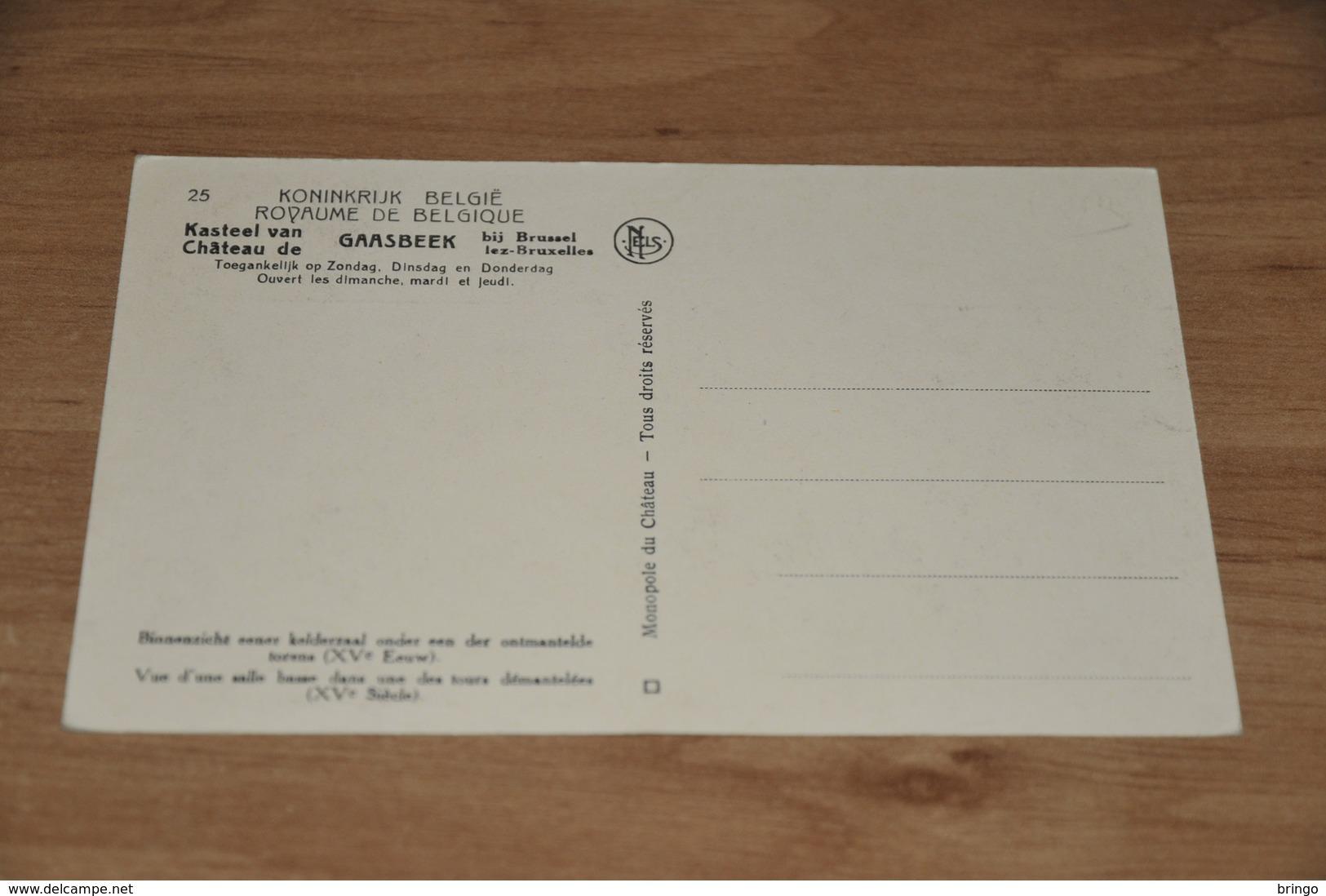 9500-     CHATEAU DE GAESBEEK, VUE D'UNE SALLE BASSE.... - Lennik