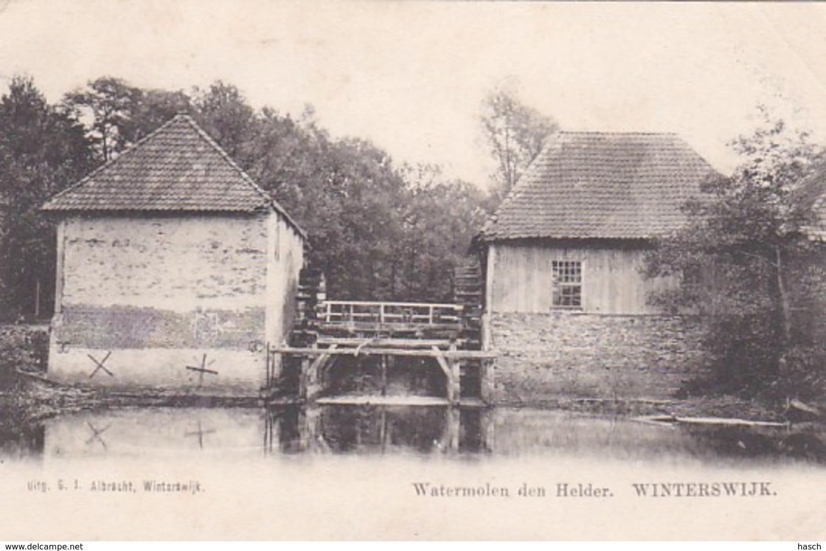 369413Winterswijk, Watermolen Den Helder (rechtsboven Een Vouw Zie Achterkant - Winterswijk