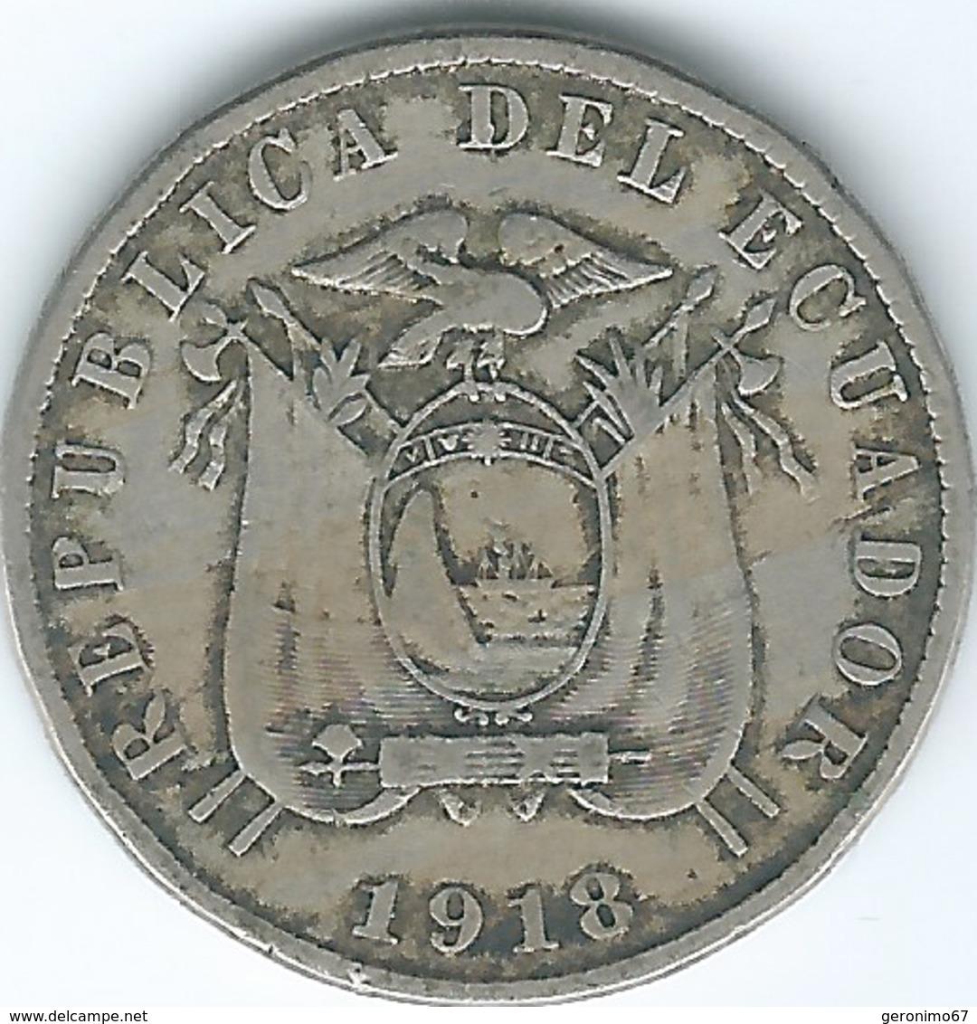 Ecuador - 10 Centavos - 1918 - KM62 - Ecuador