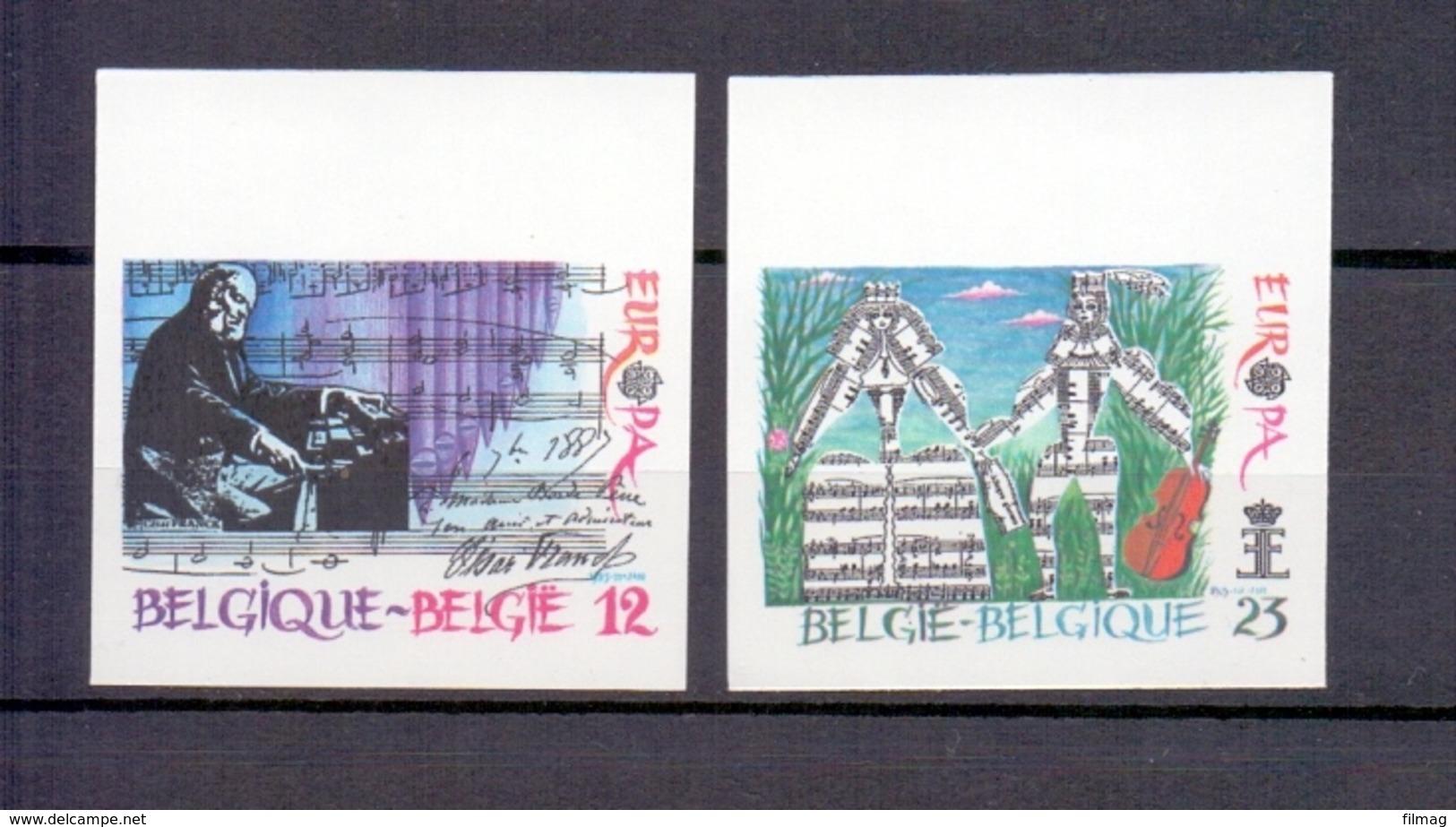 2175/2176 EUROPA ONGETAND POSTFRIS** 1985 - Belgique