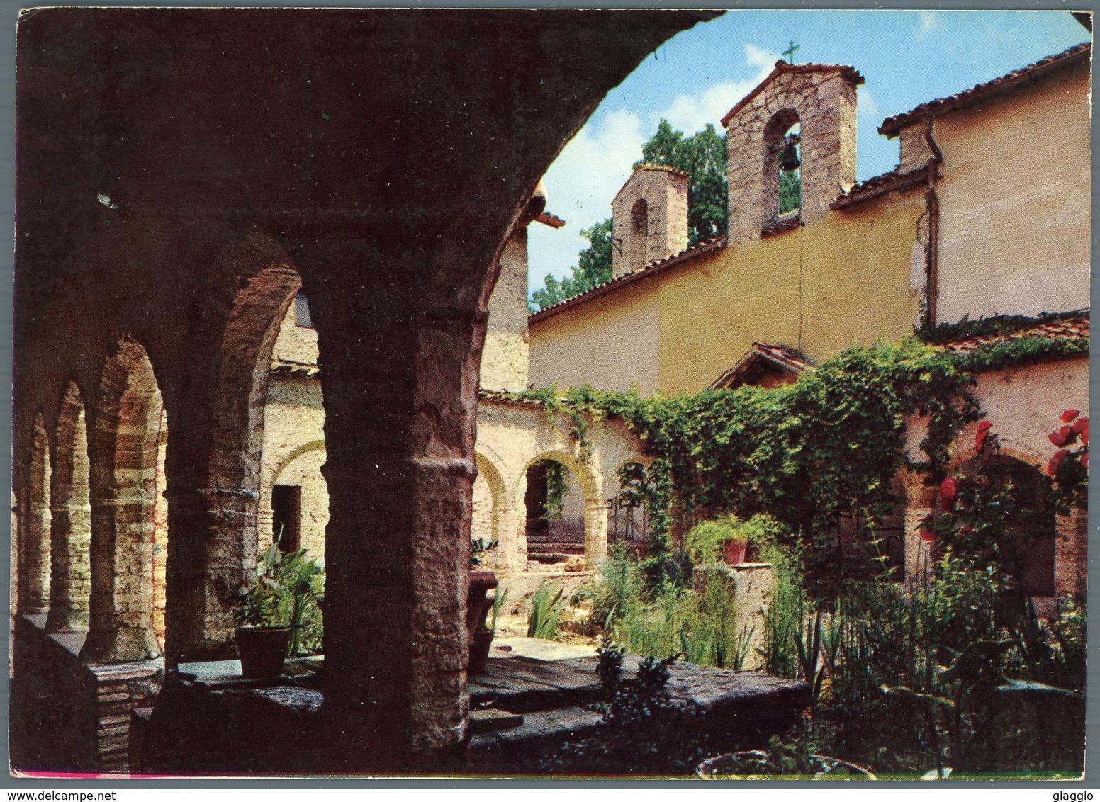 °°° Cartolina N. 7 Rieti Santuario Della Foresta Chiostro Viaggiata °°° - Rieti