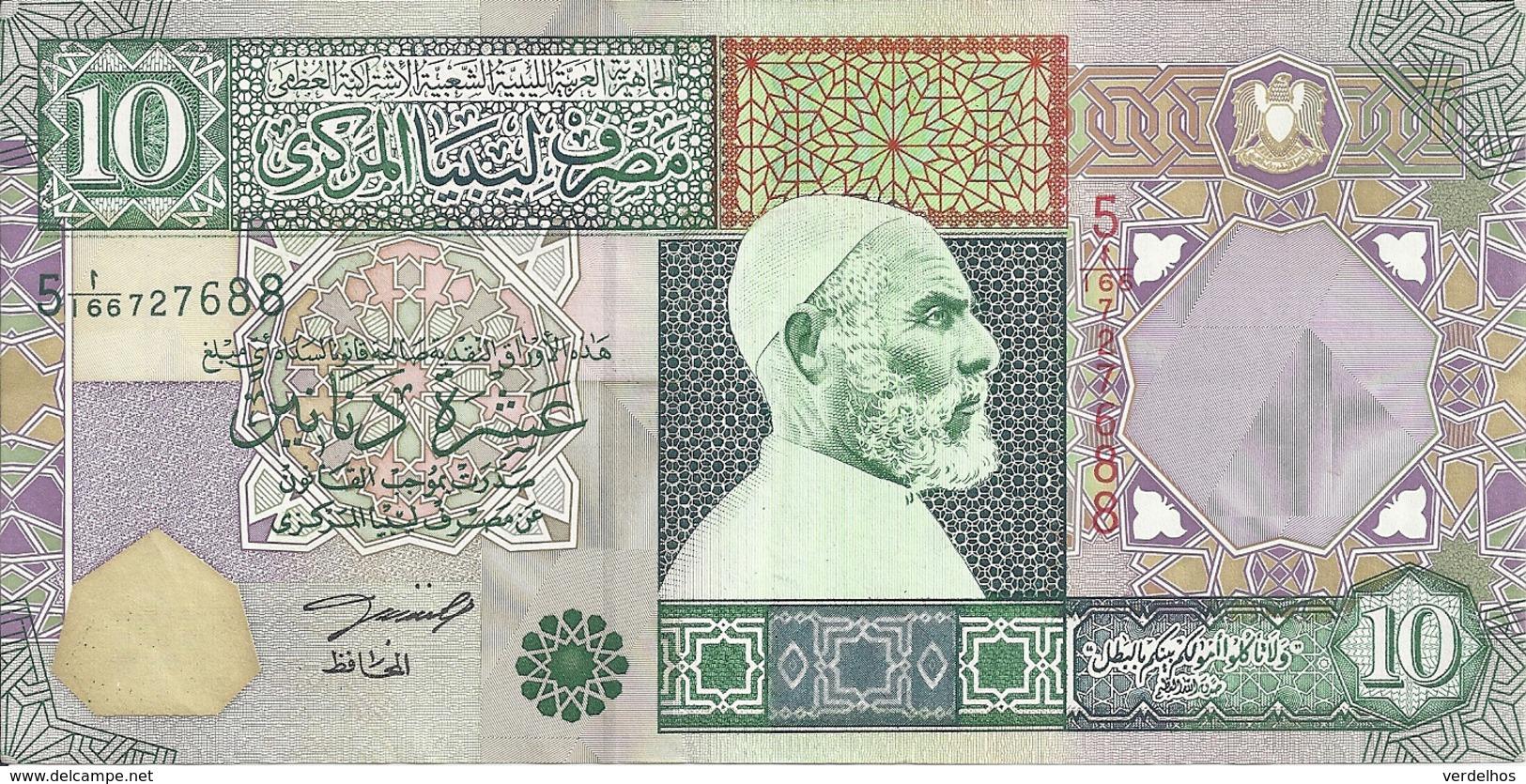 LIBYE 10 DINARS ND2002 XF+ P 66 - Libya