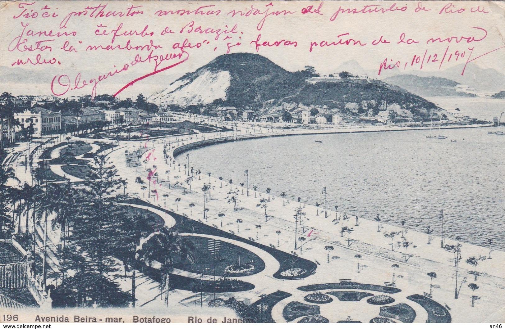 RIO DE JANEIRO AVENIDA BEIRA BOTAFOGO VG   AUTENTICA 100% - Rio De Janeiro