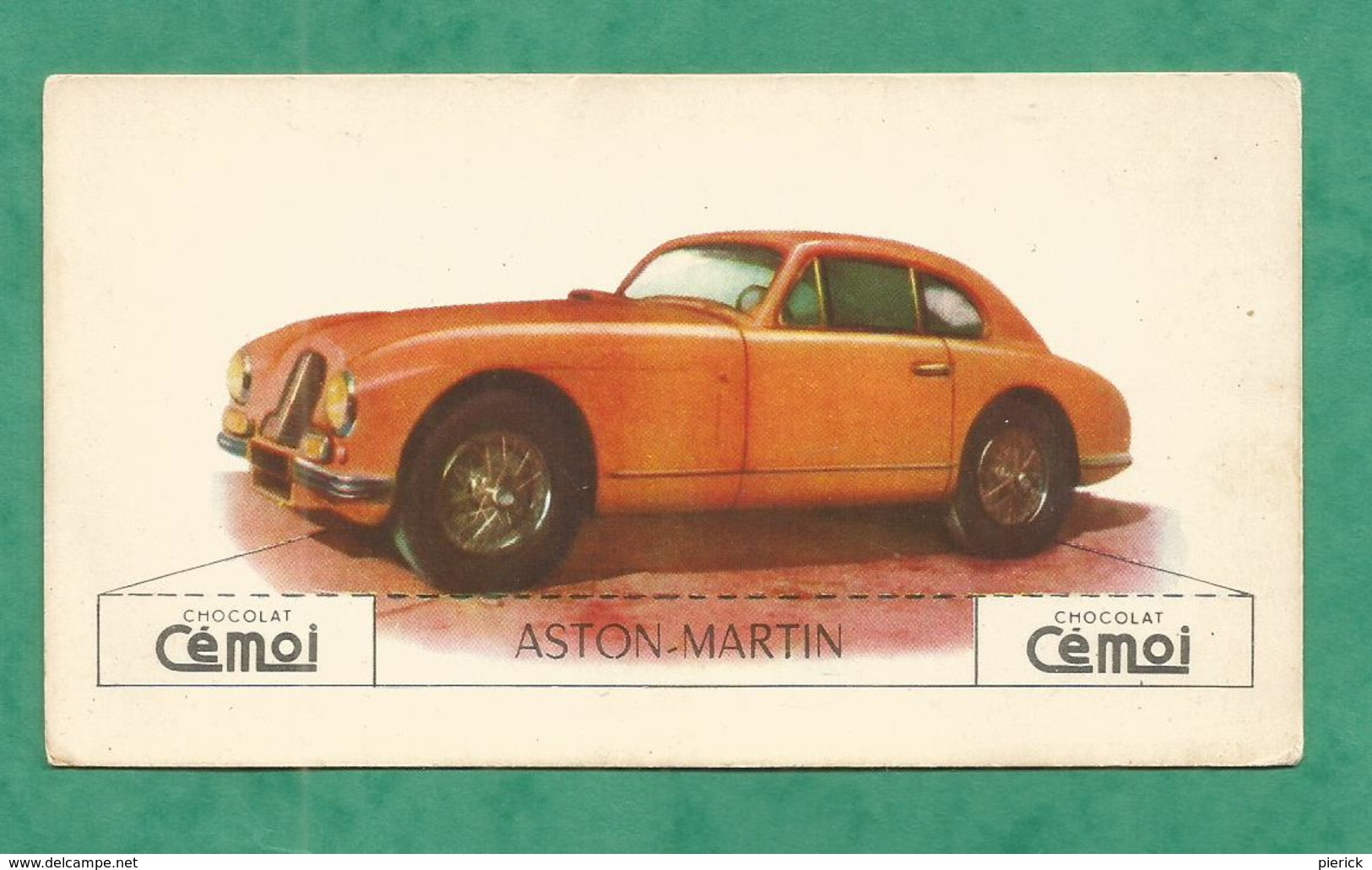 IMAGE CHOCOLAT CEMOI AUTO VOITURE VINTAGE WAGEN OLD CAR CARD ASTON MARTIN - Chocolat