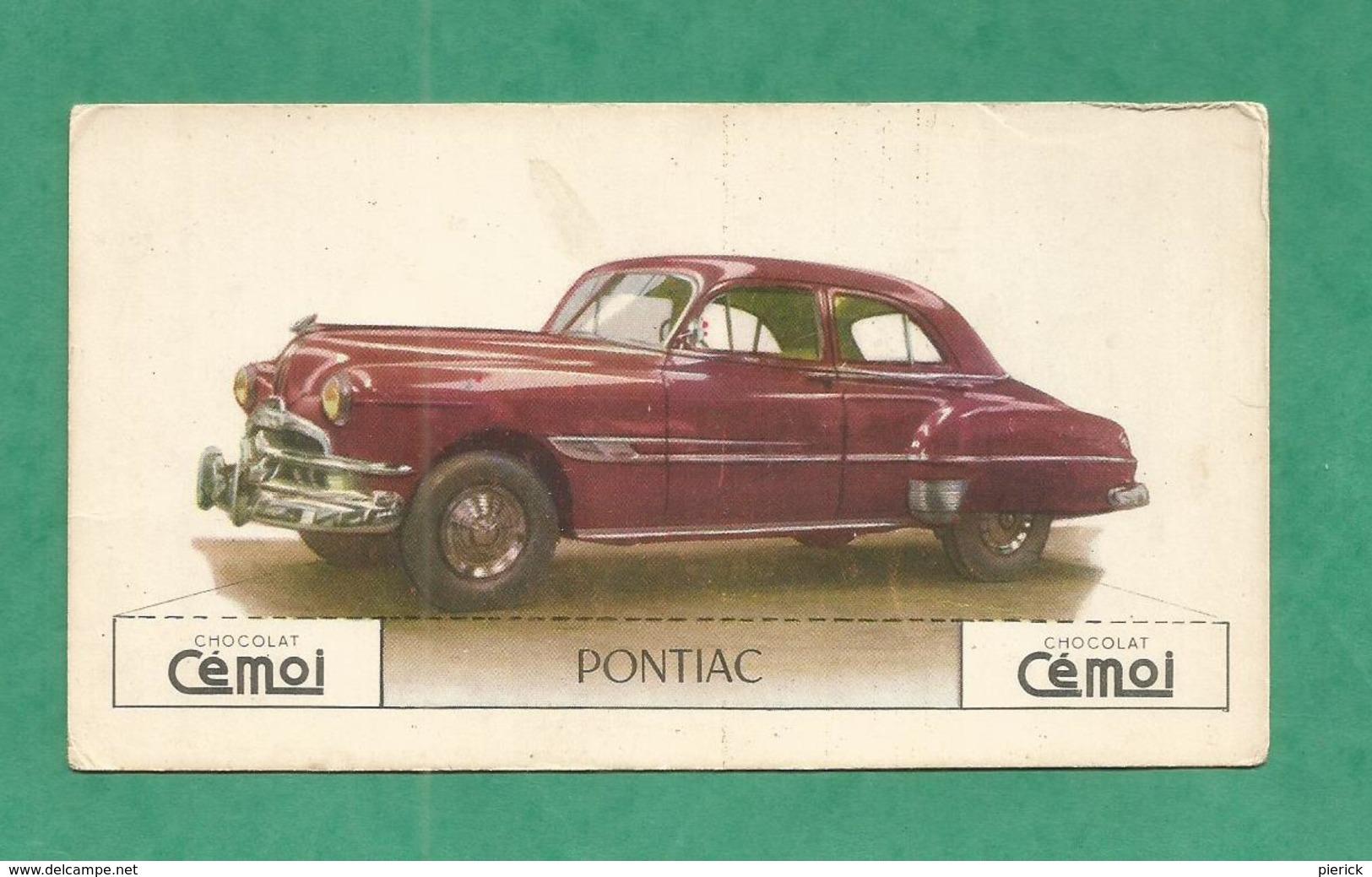 IMAGE CHOCOLAT CEMOI AUTO VOITURE VINTAGE WAGEN OLD CAR CARD  PONTIAC - Chocolat