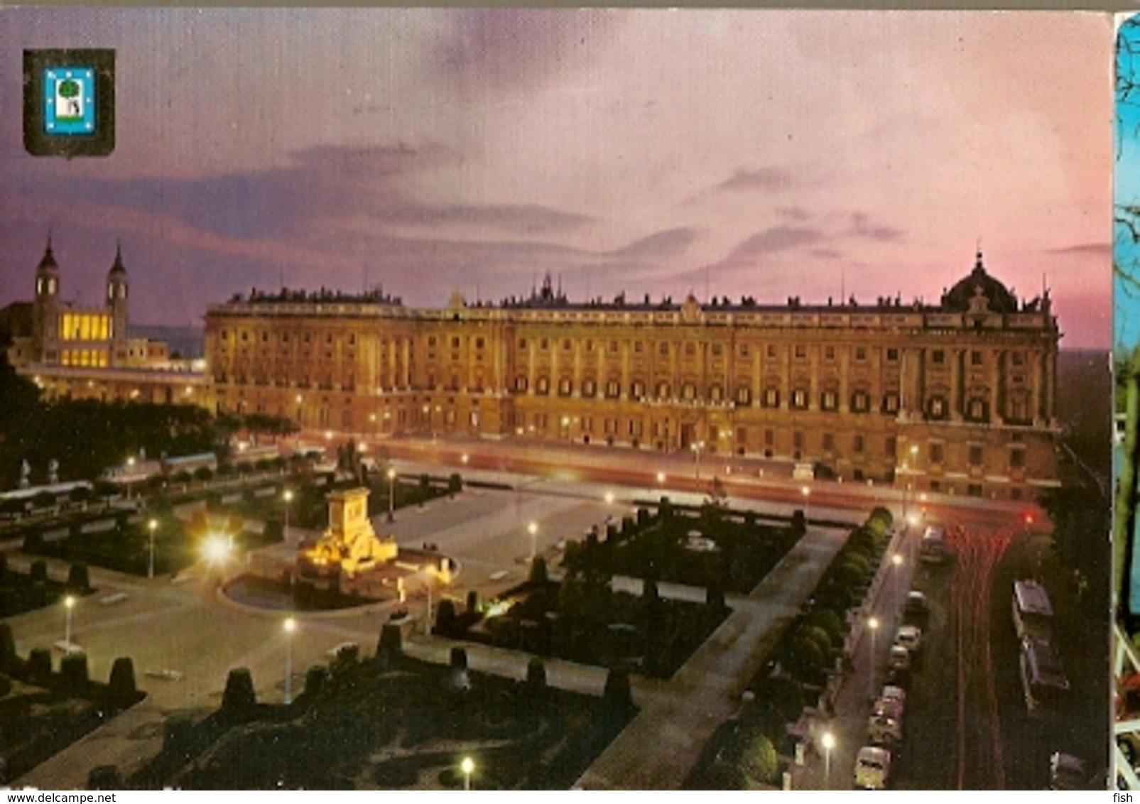 Spain  & Circulated,  Plaza De Oriente Y Palacio Real, Madrid, Midões Portugal 1971 (132) - Monuments