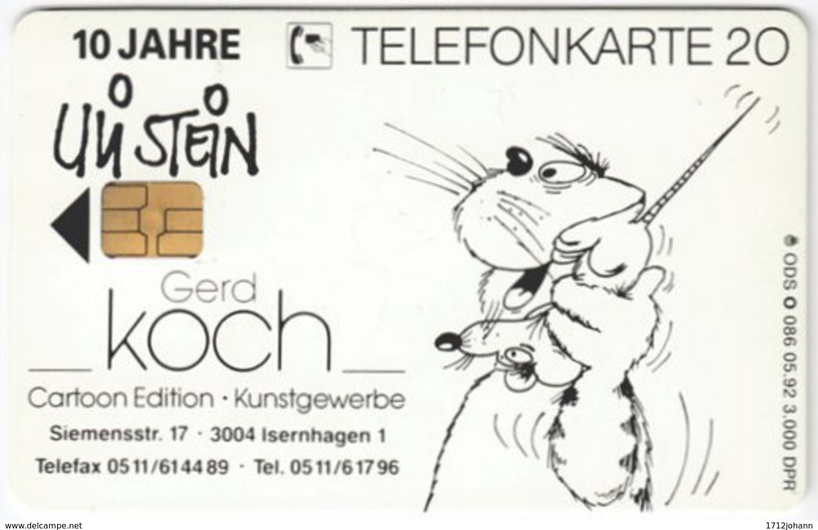 GERMANY O-Serie A-957 - 086 05.92 - Painting, Modern Art - MINT - Deutschland