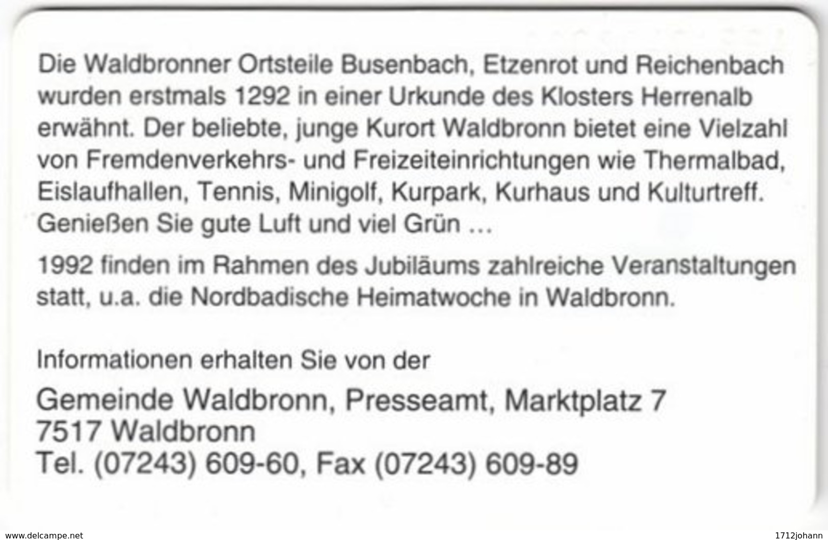 GERMANY O-Serie A-973 - 048 04.92 - MINT - O-Series: Kundenserie Vom Sammlerservice Ausgeschlossen