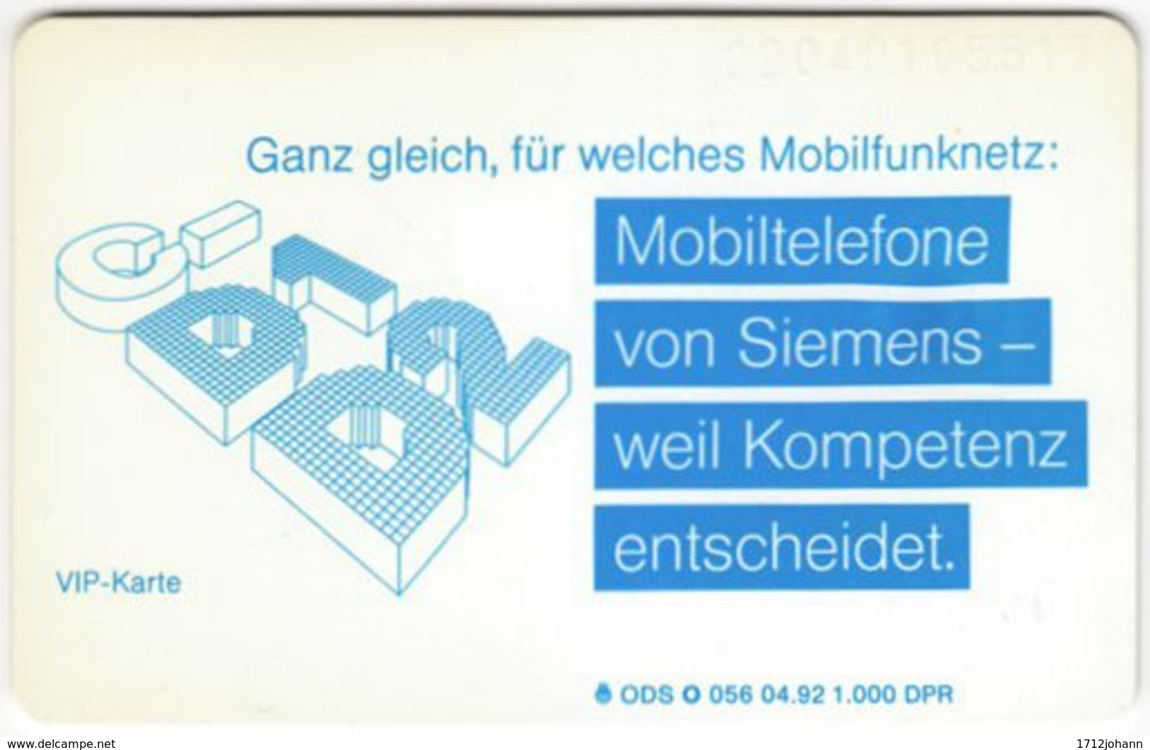 GERMANY O-Serie A-976 - 056 04.92 - MINT - O-Series: Kundenserie Vom Sammlerservice Ausgeschlossen