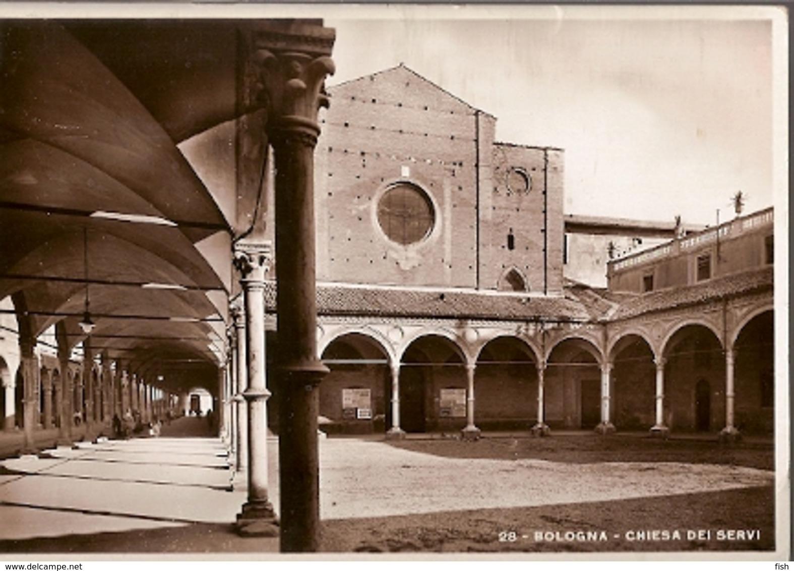 Italy & Circulated, Chiesa Dei Servi, Bologna, Roma 1933 (28) - Monuments