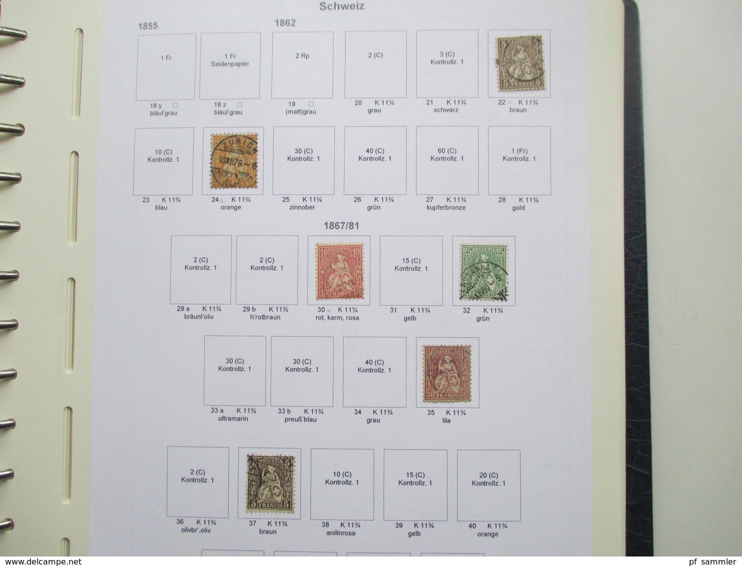 Schweiz Sammlung Ab 1862 - 1999 Gestempelt / Vereinzelt * Angangs Auch Mit Farben / Typen! Saubere Stempel!! - Collections (with Albums)