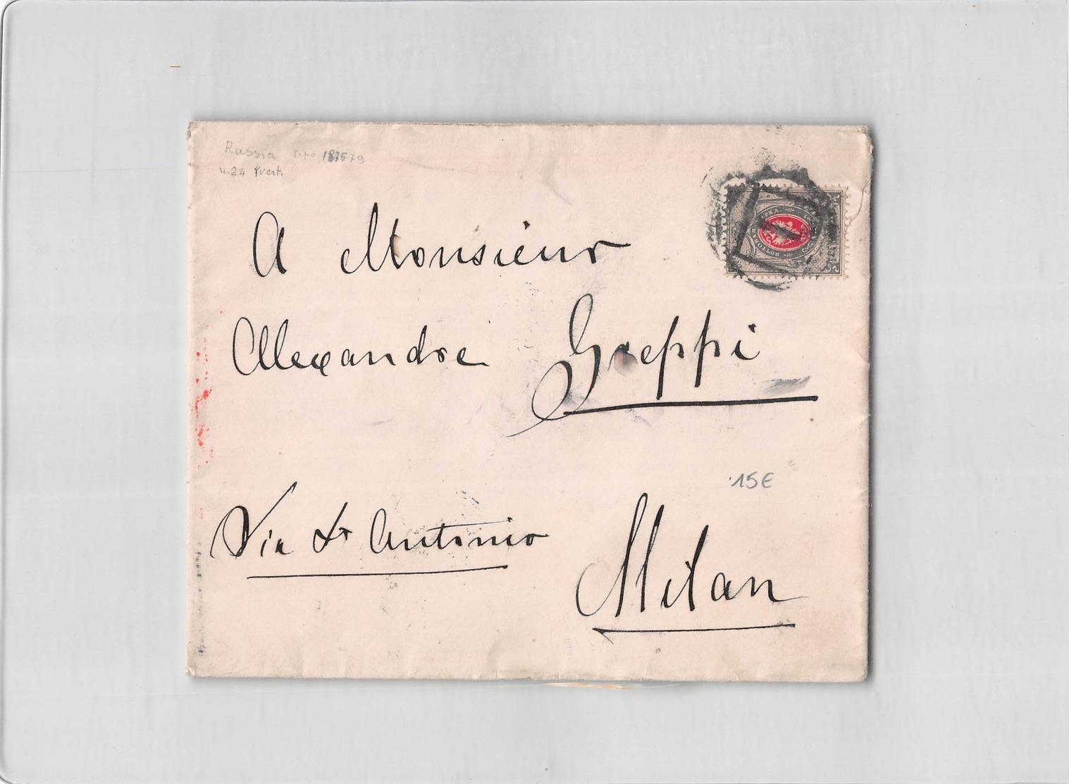 9201 01 RUSSIA TO MILAN - 1857-1916 Imperium