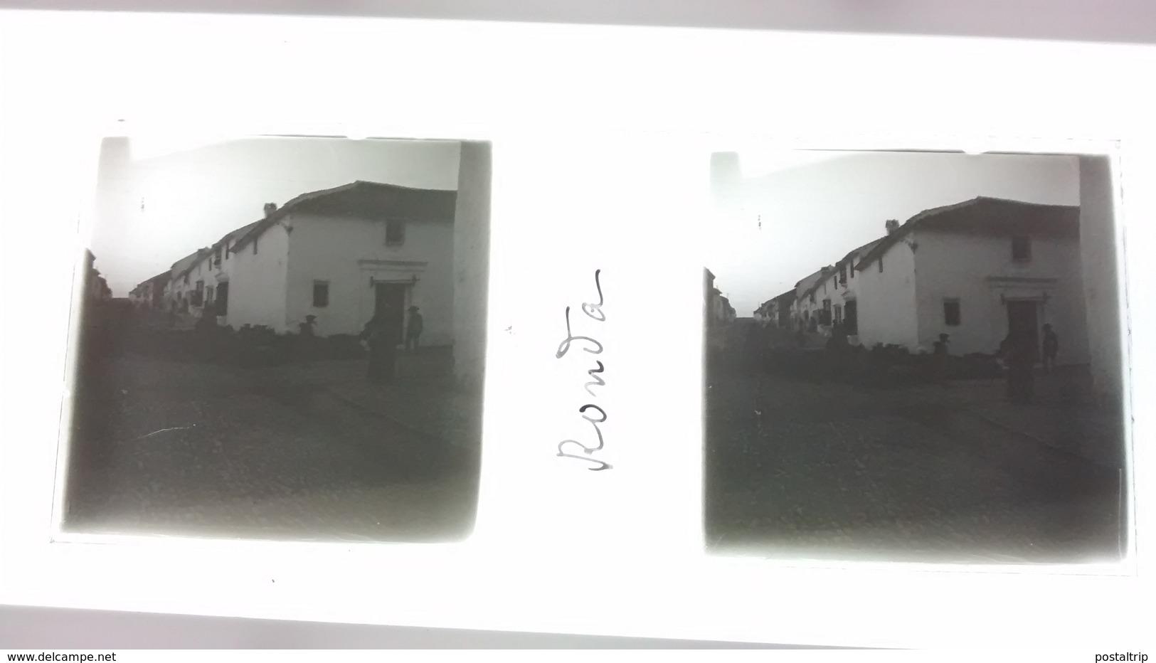 LOTE 17 PLACAS ESTEREOSCOPICAS RONDA ANDALUCIA MALAGA ESPAÑA Fonds Victor FORBIN (1864-1947) Stérèoscopiques - Diapositivas De Vidrio