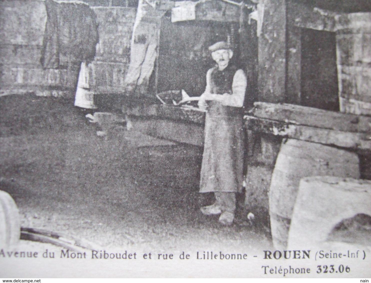 """ROUEN - """" LEON TENIERE - CIDRE, VINS SPIRITUEUX """"  /// PRESSOIR CIDRERIE /// 99 AVENUE DU MONT RIBOUDET..."""" TRES RARE """" - Rouen"""