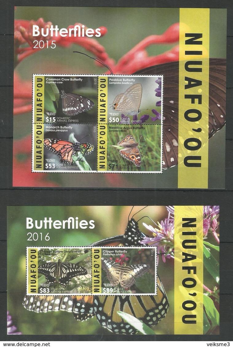 NIUAFO'OU - MNH - Animals - Insects - Butterflies 2015 - 2016 - Butterflies