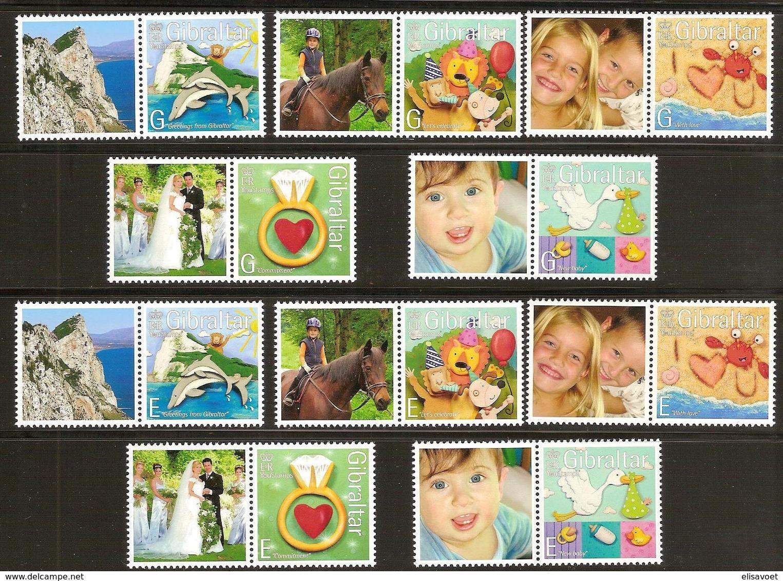 Gibraltar  2007 Yvertn° 1231-1240 *** MNH  Cote 12,00 Euro Timbres De Messages - Gibraltar