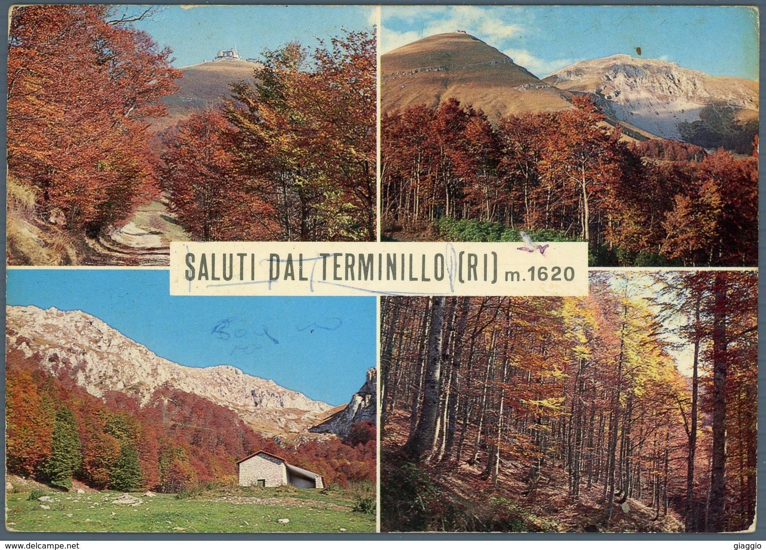 °°° Cartolina N.19 Monte Terminillo Vedutine Viaggiata °°° - Rieti