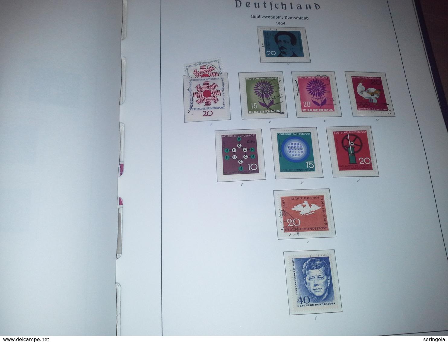 Samlung Leuchtturm Album Deutschland 1949-1979 - Briefmarken