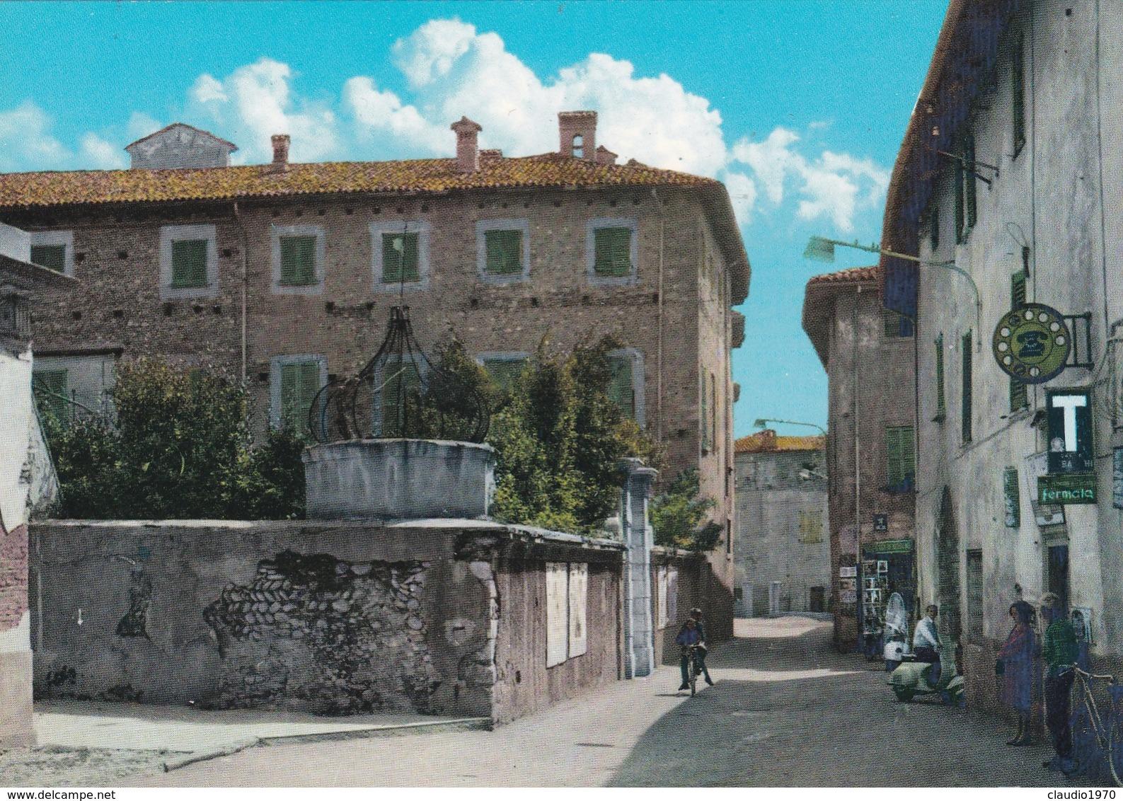CARTOLINA  - BERGAMO - PEDRENGO - PIAZZA - Bergamo