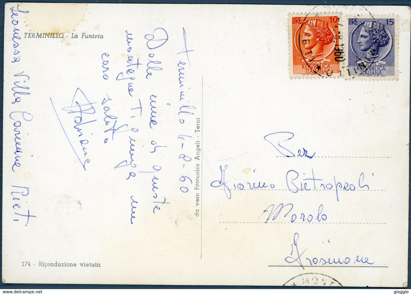 °°° Cartolina N. 27 Terminillo La Funivia Viaggiata °°° - Rieti