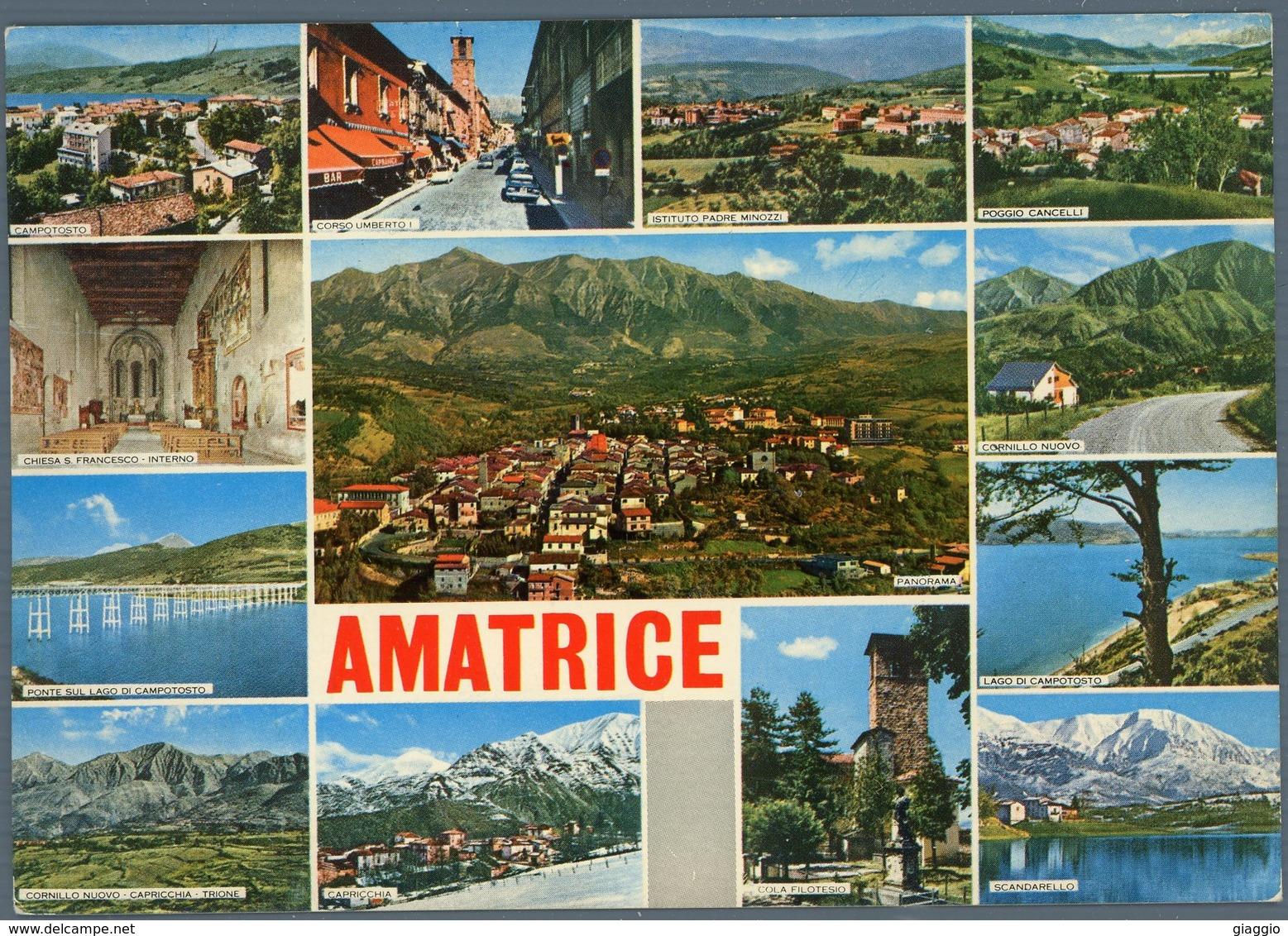 °°° Cartolina N. 31 Amatrice Vedutine Viaggiata °°° - Rieti