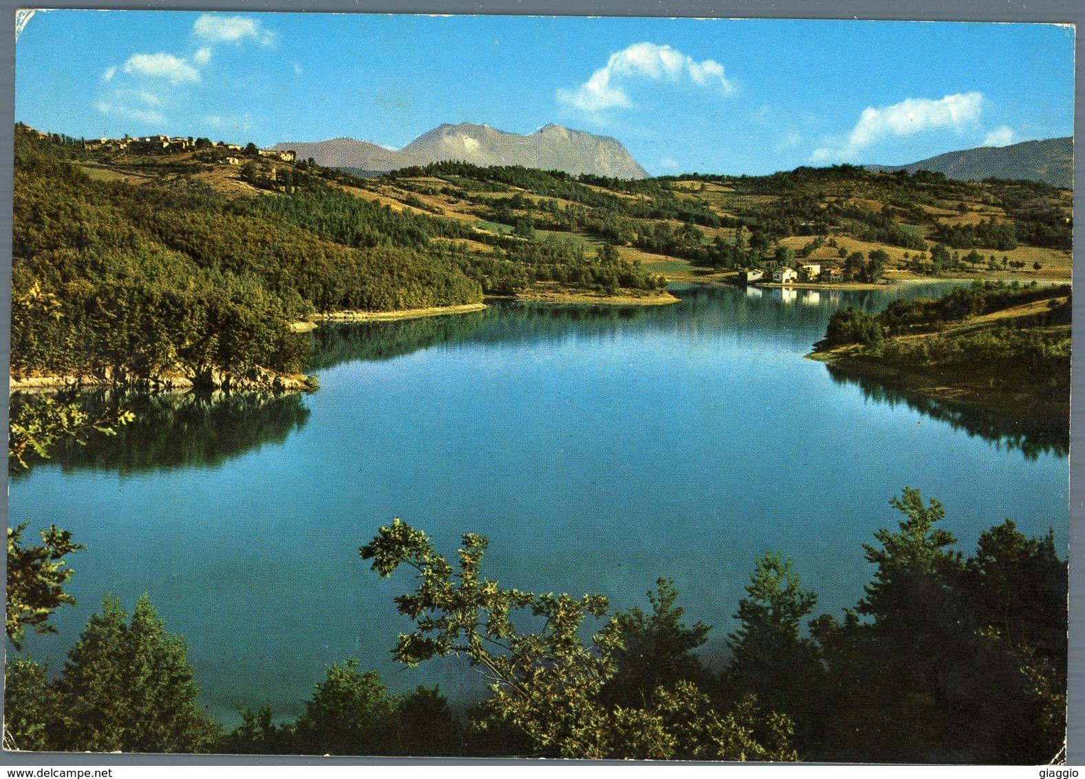 °°° Cartolina N. 33 Amatrice Lago Scandarello Frazioni Conca E S. Giusto Viaggiata °°° - Rieti