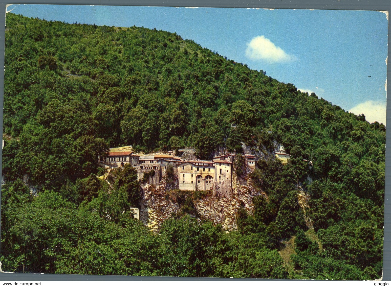 °°° Cartolina N. 34 Greccio Santuario Francescano Del Presepio Viaggiata °°° - Rieti