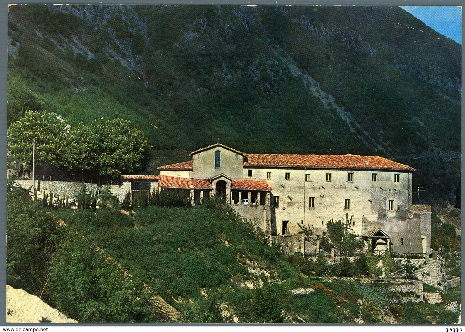 °°° Cartolina N. 36 Poggio Bustone Santuario Francescano Viaggiata °°° - Rieti
