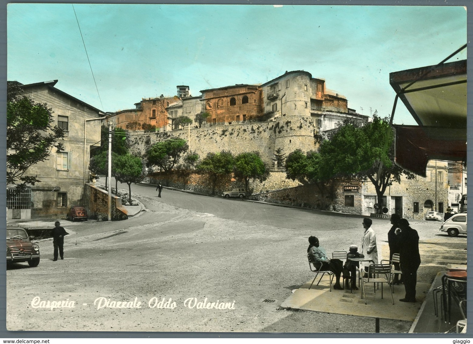 °°° Cartolina N. 38 Casperia Piazzale Oddo Valeriani Viaggiata °°° - Rieti