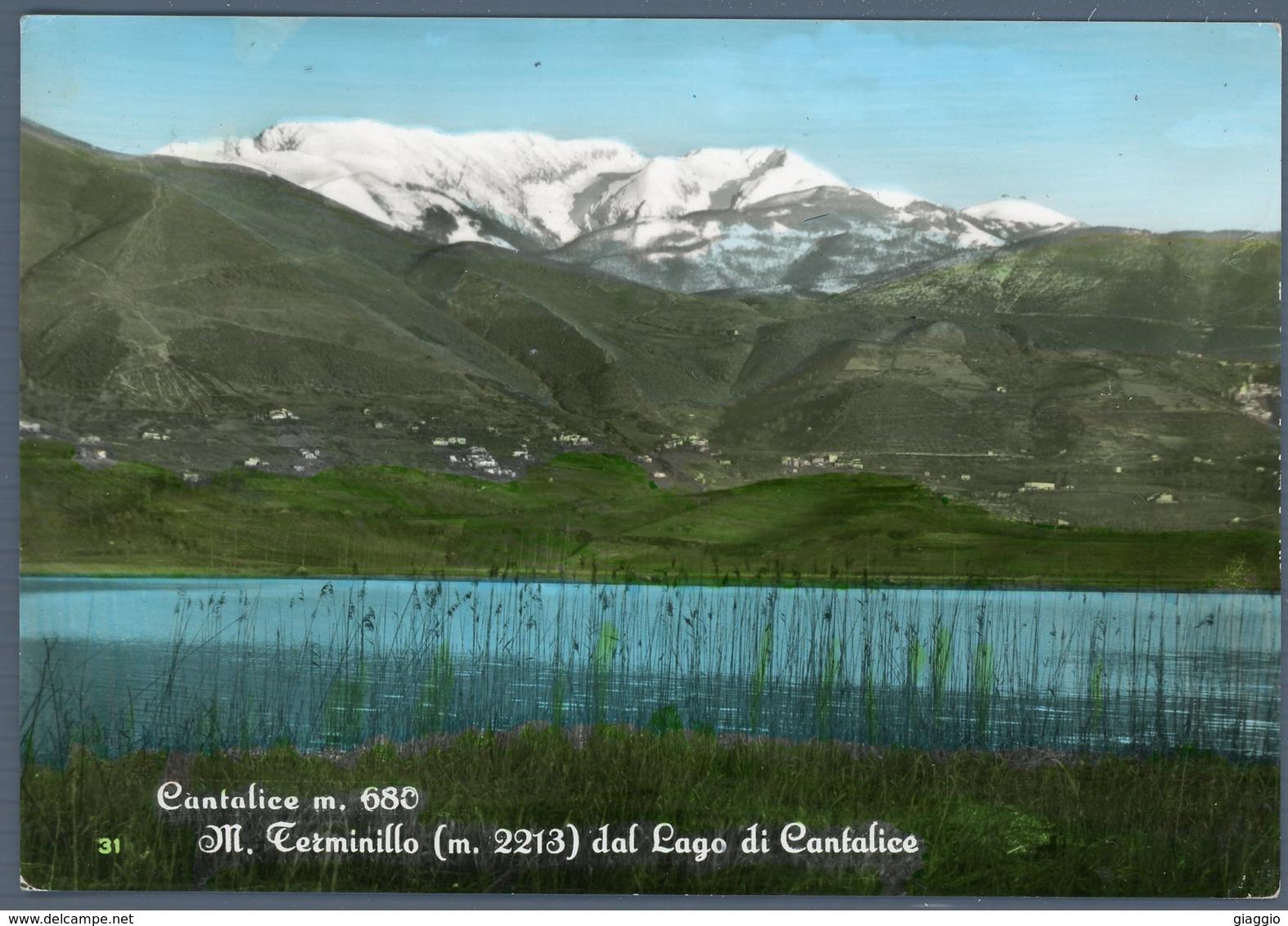 °°° Cartolina N. 39 Cantalice M. Terminillo Dal Lago Di Cantalice Viaggiata °°° - Rieti