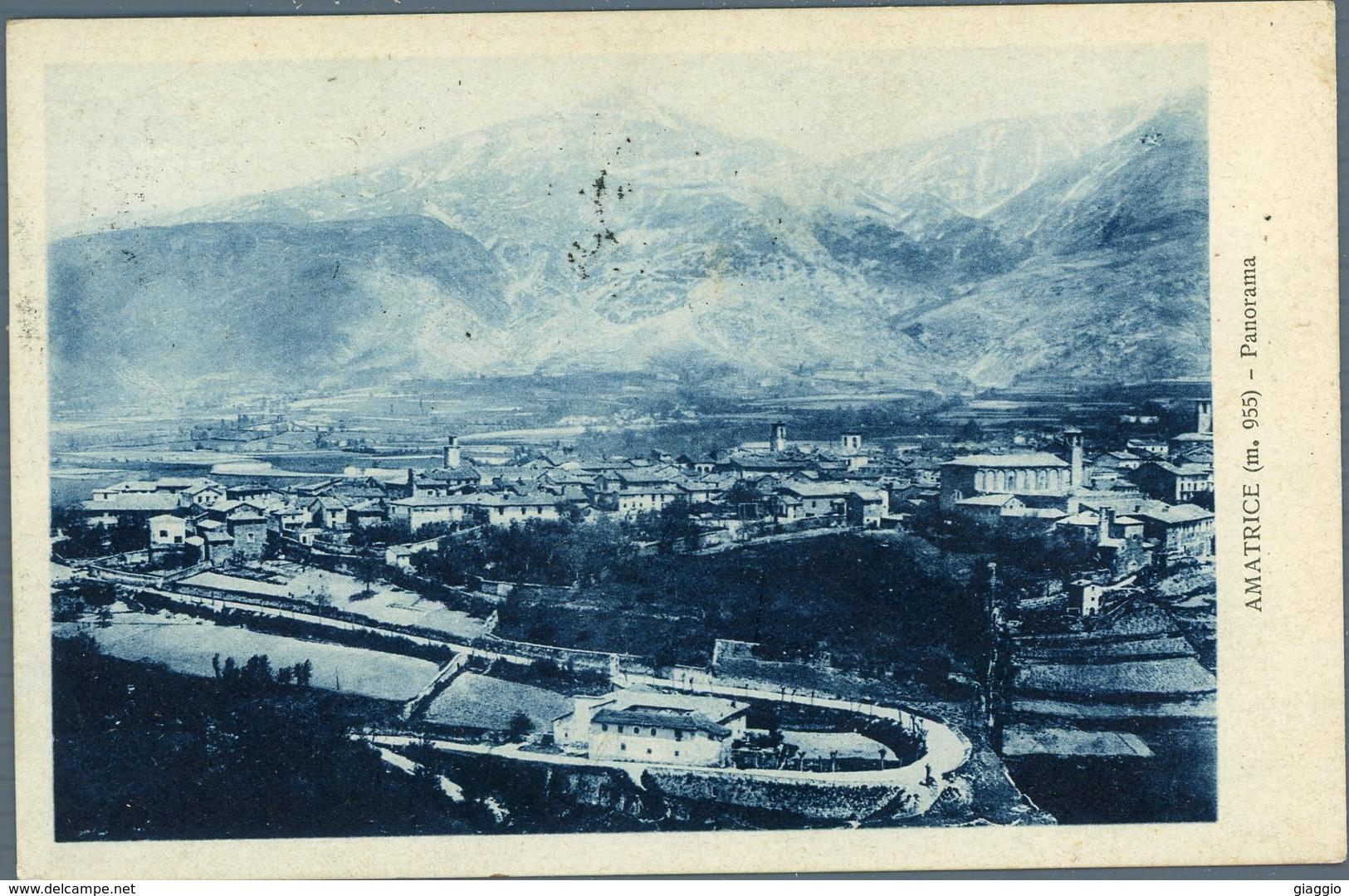 °°° Cartolina N. 40 Amatrice Panorama Viaggiata °°° - Rieti