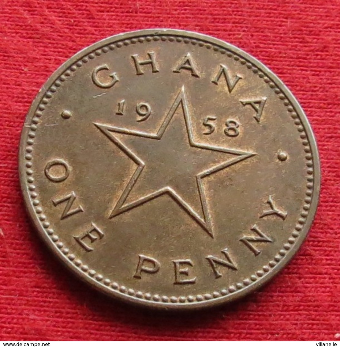 Ghana 1 One Penny 1958 KM# 2 Gana - Ghana