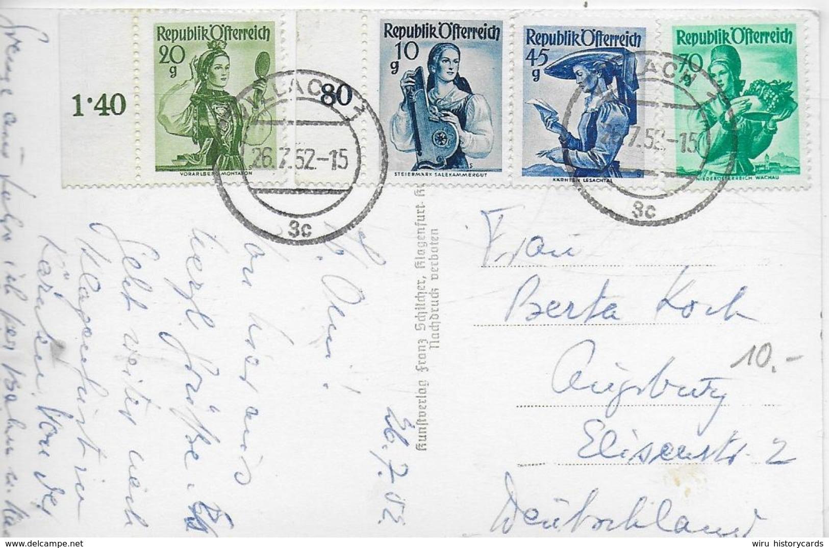 AK 0233  Villach ( Draubrücke ) - Verlag Schilcher Um 1952 - Villach