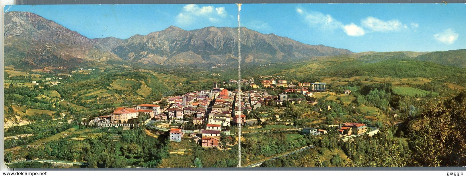 °°° Cartolina N. 41 Amatrice Panorama E Veduta Del Monte Gorzano Doppia Viaggiata °°° - Rieti