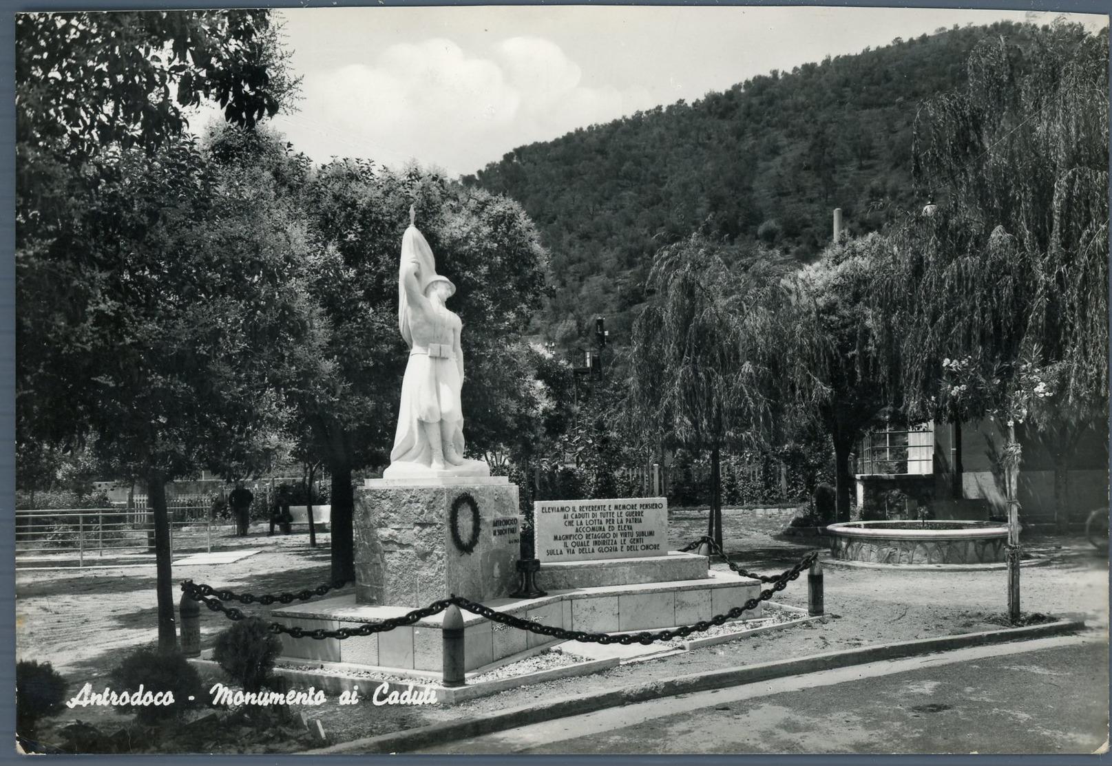 °°° Cartolina N. 42 Antrodoco Monumento Ai Caduti Viaggiata °°° - Rieti