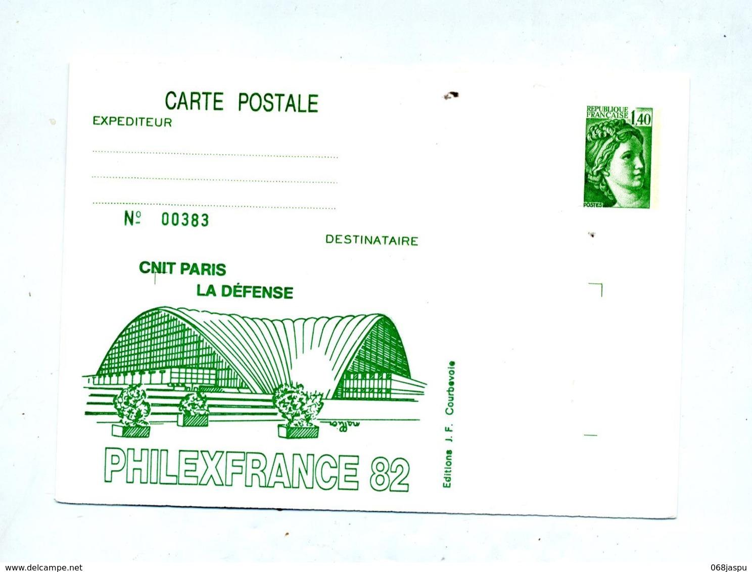 Carte Postale 1.40 Sabine Illustré Cnit - Entiers Postaux