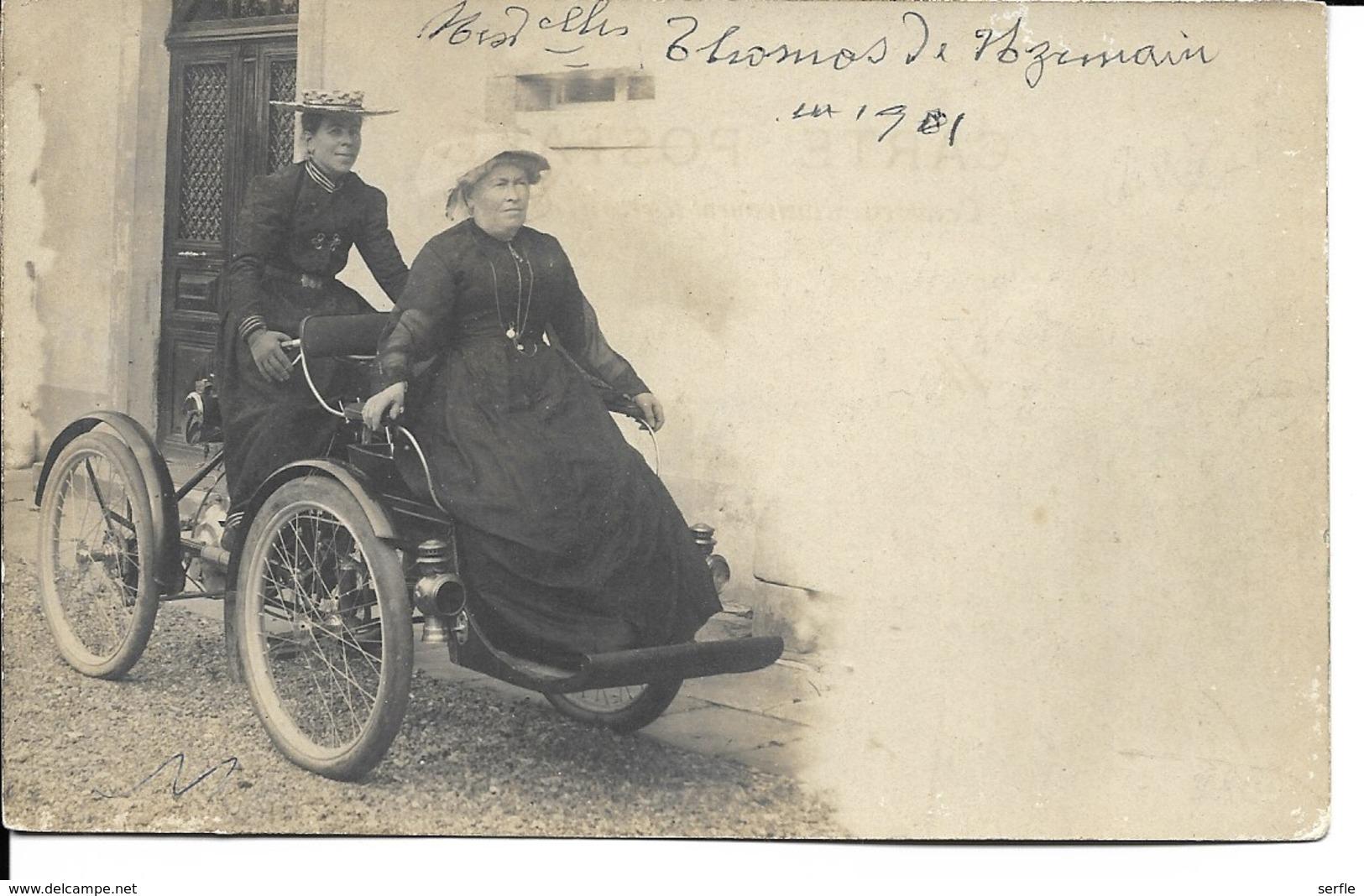 88 - Uzemain - Mesdemoiselles Thomas En Balade (carte-photo) - Autres Communes