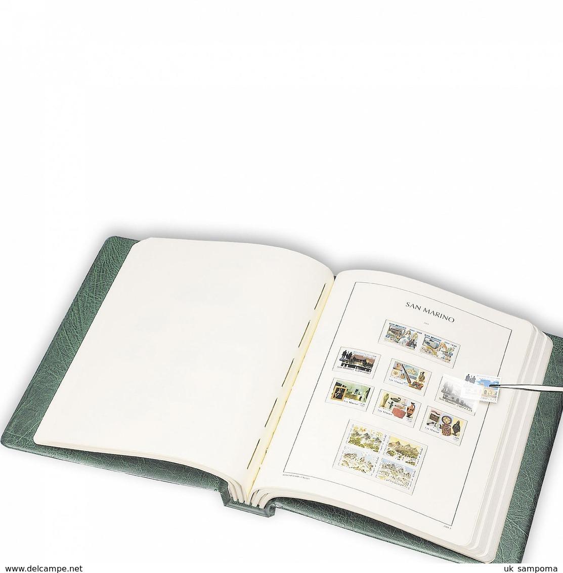 LEUCHTTURM SF-Vordruckalbum EXCELLENT DE, CL-Design UDSSR 1970-1976 Inkl.Schutzkass. Rot - Albums & Binders