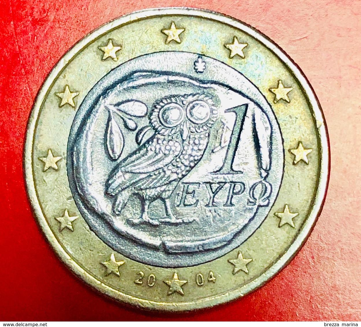 GRECIA - 2004 - Moneta - Civetta - Euro - 1.00 - Grèce