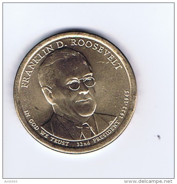 Stati Uniti 2014 - 1 Dollaro F. D. Roosevelt - Zecca P - Federal Issues