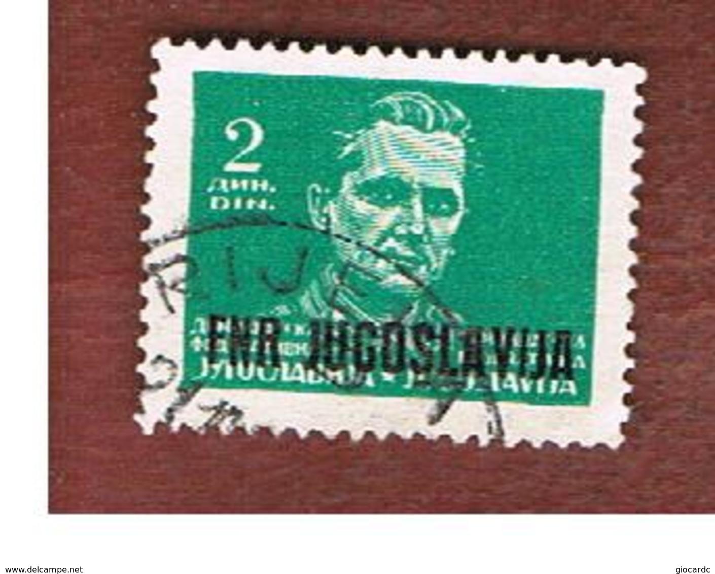 JUGOSLAVIA (YUGOSLAVIA)   - SG 623  -    1950 MARSHAL TITO OVEPRINTED -   USED - 1945-1992 Repubblica Socialista Federale Di Jugoslavia