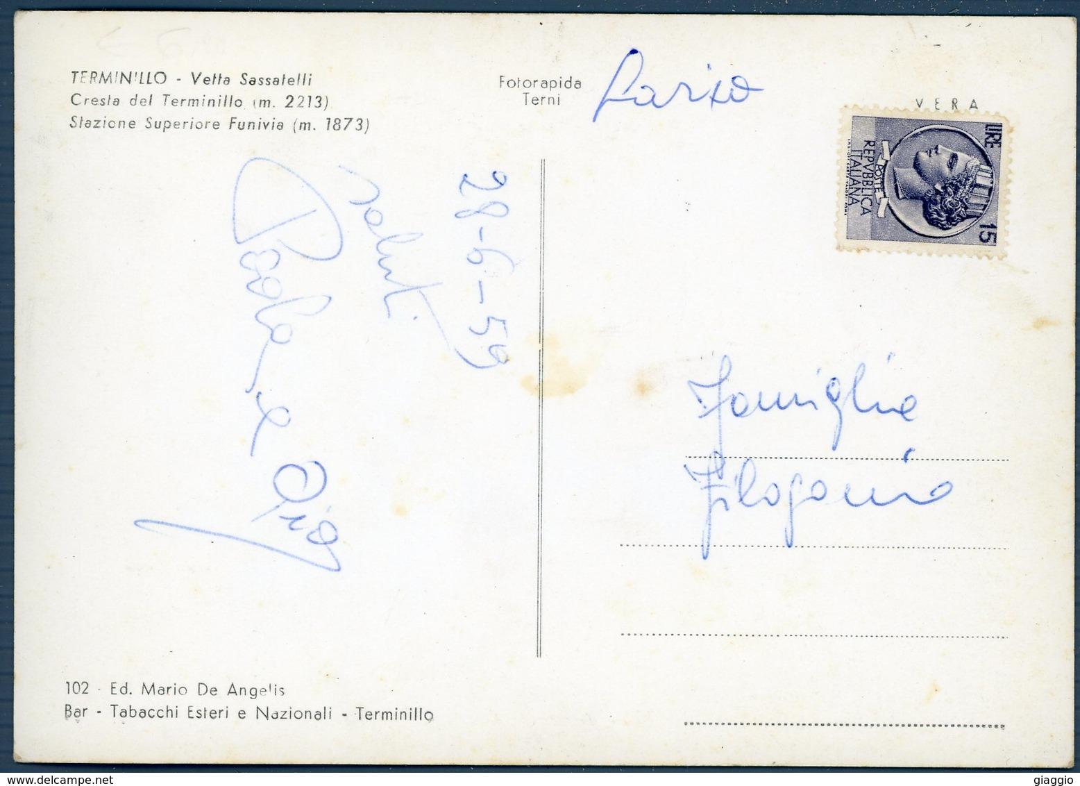 °°° Cartolina N. 61 Terminillo Vette Sassatelli Vedutine Viaggiata °°° - Rieti