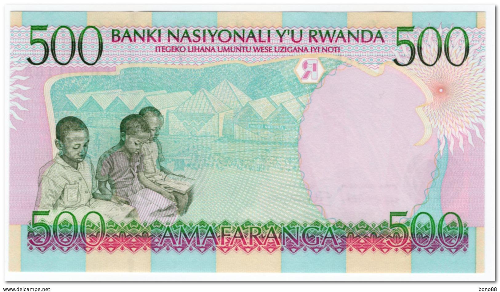 RWANDA,500 FRANCS,1998,P.26,UNC - Rwanda