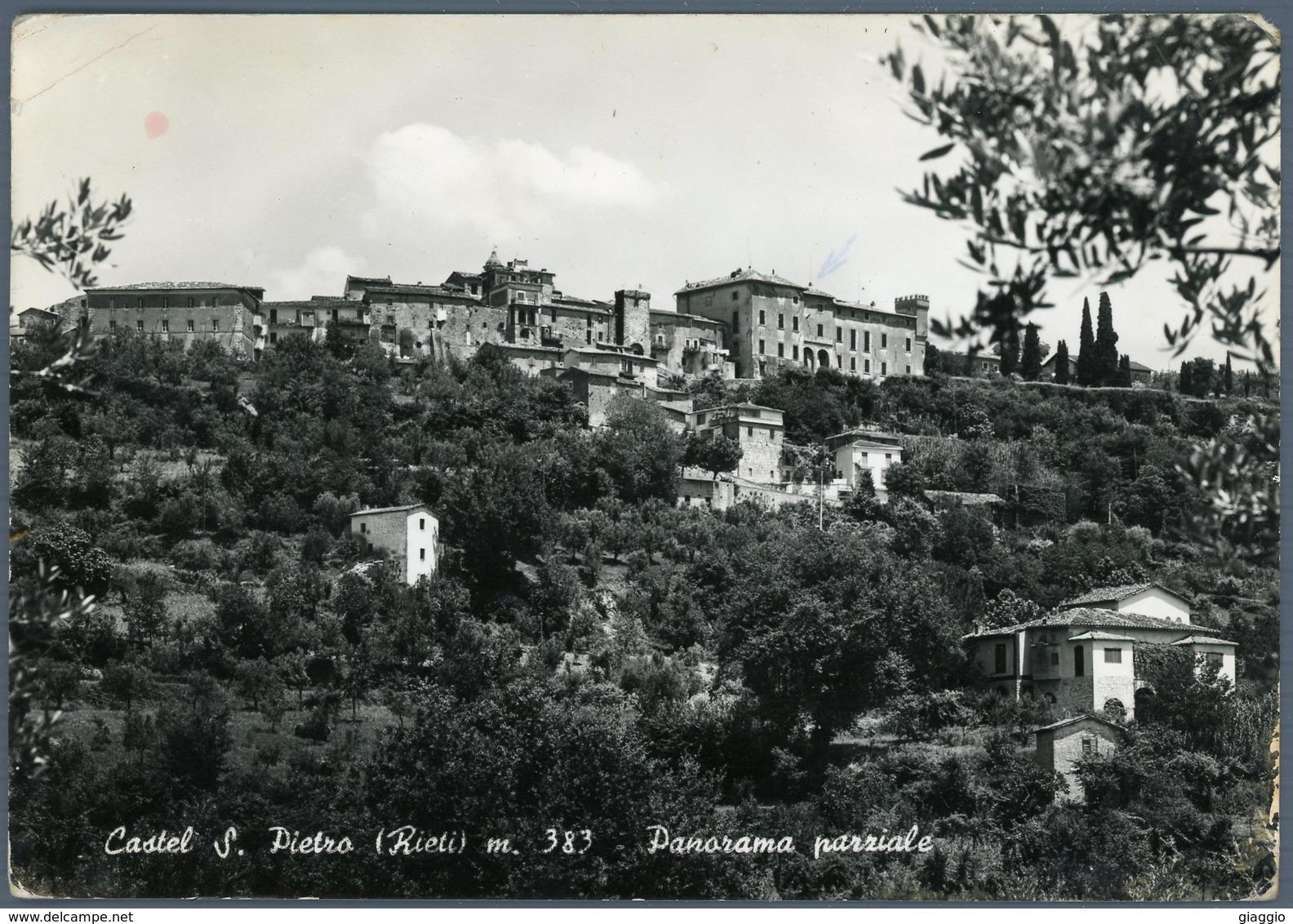 °°° Cartolina N. 65 Castel S. Pietro Panorama Parziale Viaggiata °°° - Rieti