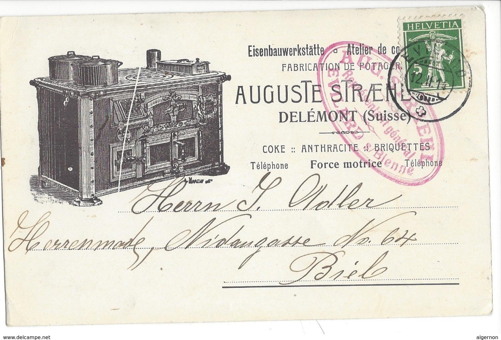 22032 - Delémont Fabrication De Potager Auguste Straehl 1914 - JU Jura