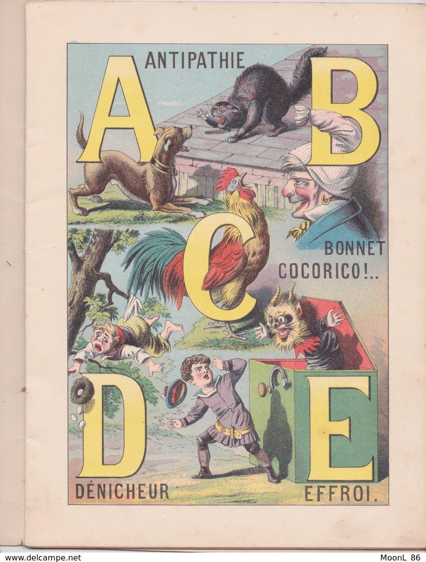Ancien Abécédaire Illustré AMUSANT - Avec Les Animaux - Série C - Imagerie Pellerin à Epinal - 19ème Siècle - Books, Magazines, Comics