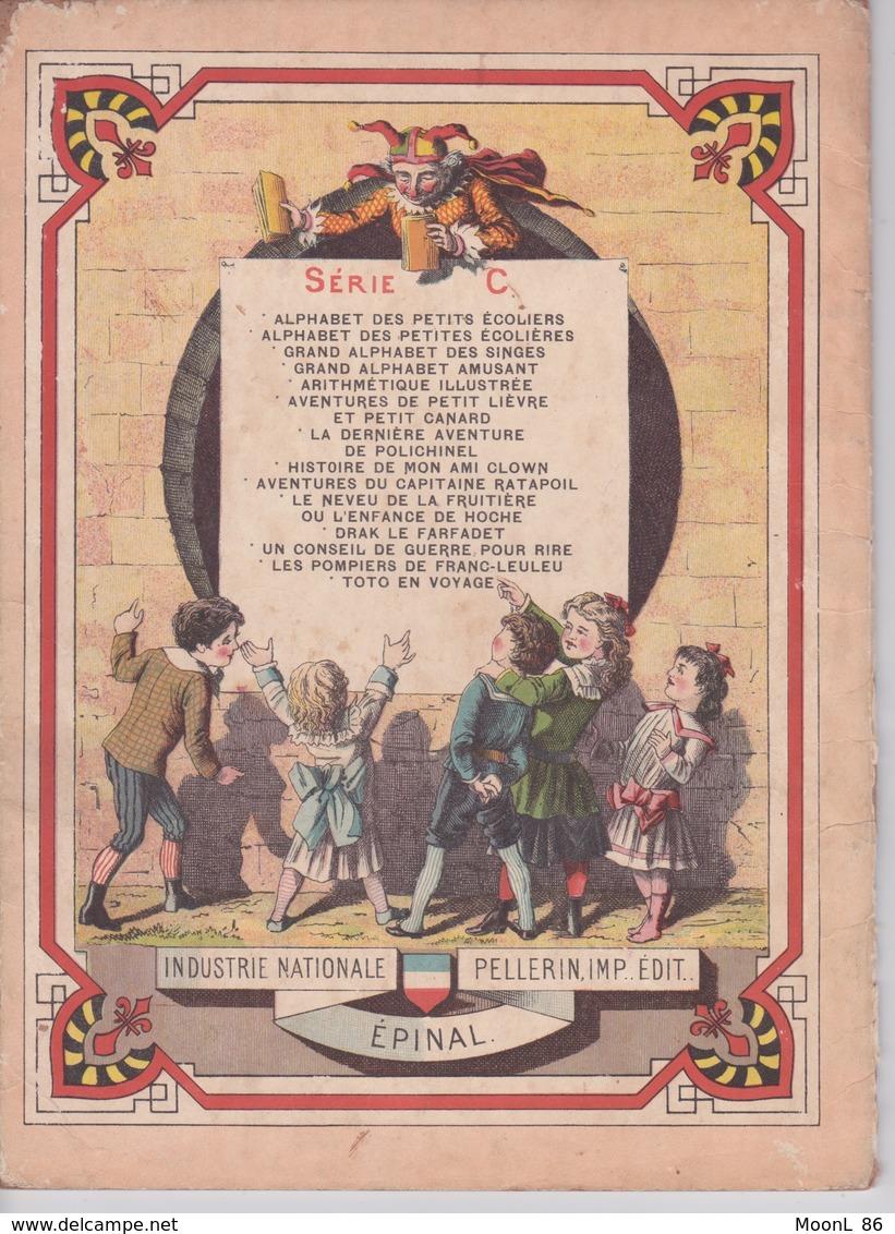 Ancien Abécédaire Illustré AMUSANT - Avec Les Animaux - Série C - Imagerie Pellerin à Epinal - 19ème Siècle - 1801-1900