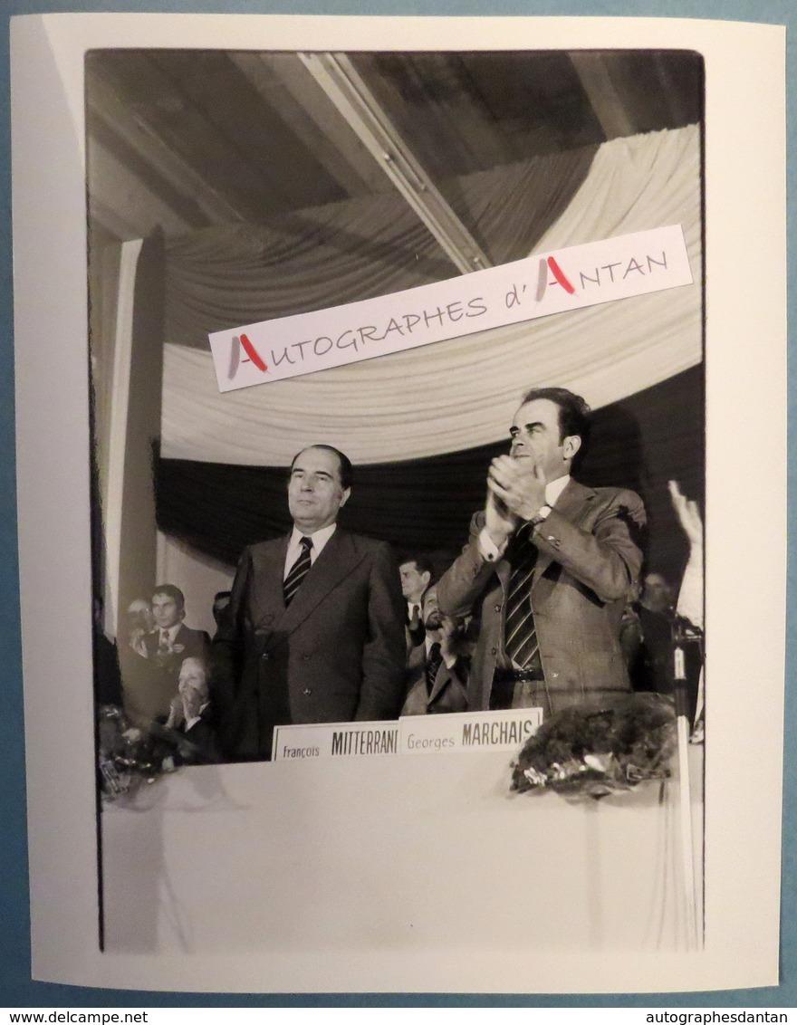 François MITTERRAND Et Georges MARCHAIS - Parti Socialiste - Communiste - Photo De Presse - PS Socialisme - Gamma - Reproducciones