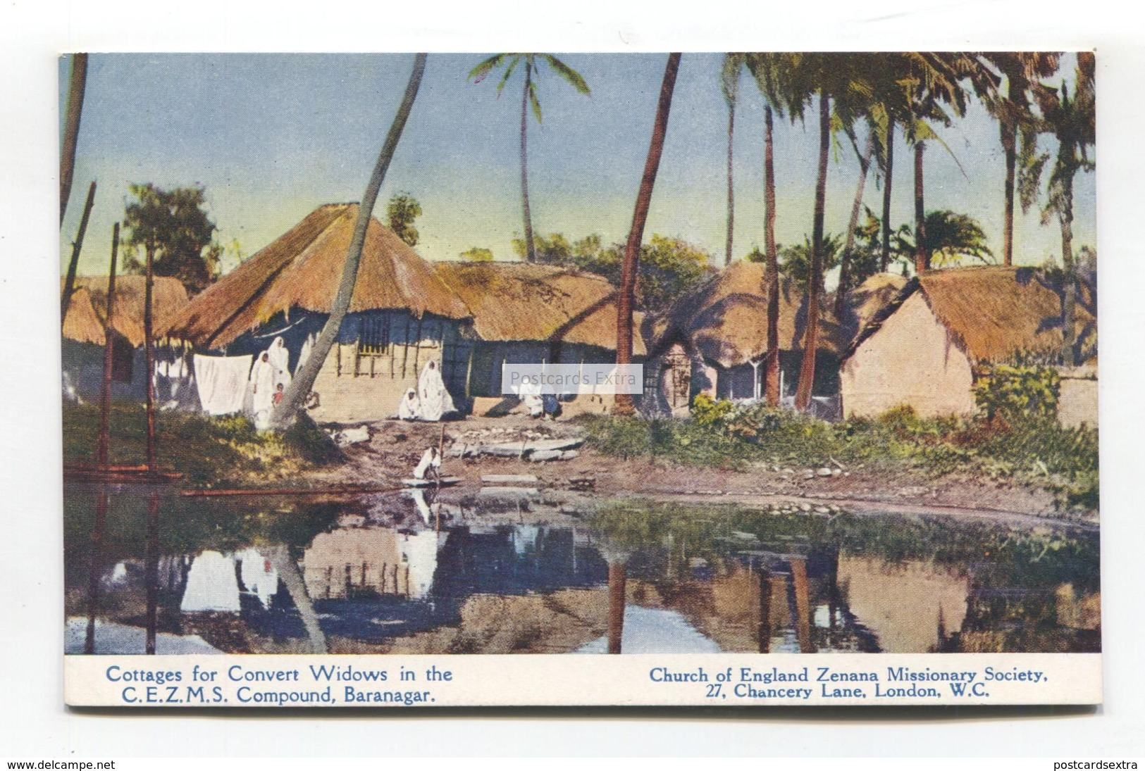 Baranagar, West Bengal - Cottages For Convert Widows - Old India Missionary Society Postcard - India