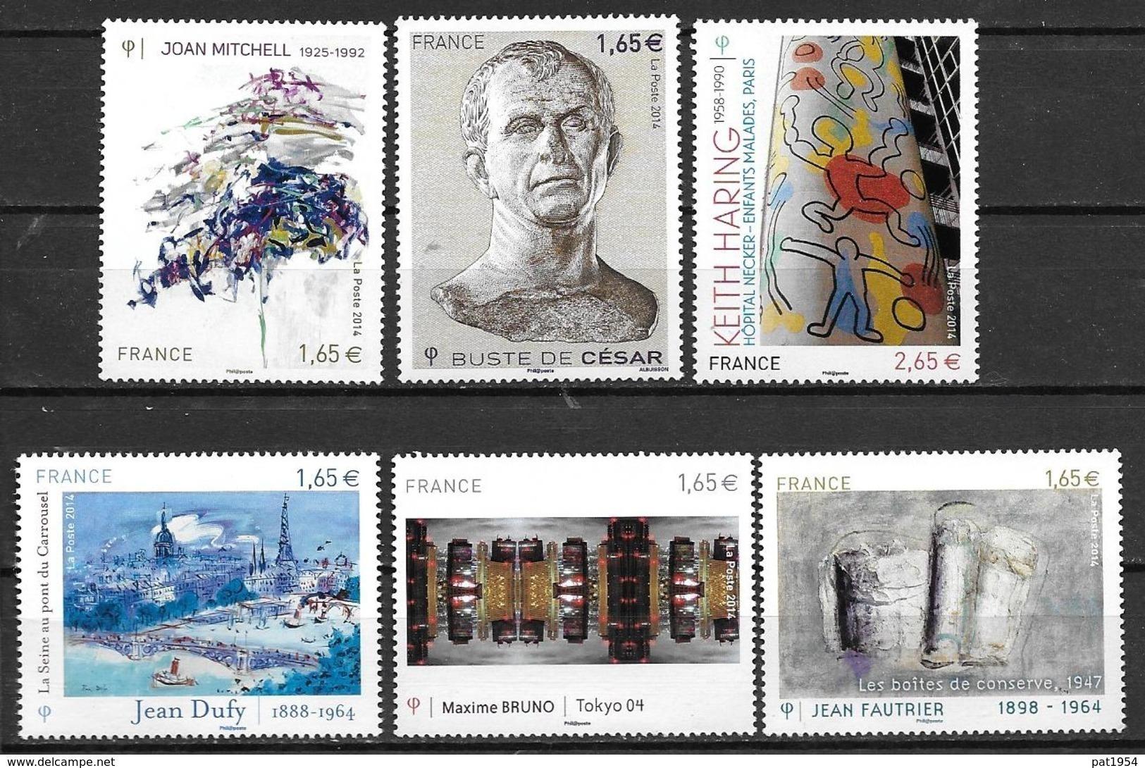 France 2014 N° 4836 - 4837 - 4849 - 4785 - 4888 - 4901 Neufs Série Artistique à La Faciale - Francia